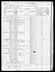 1870 United States Federal Census for Jerry Burgess