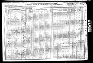 Eliza Cox 1910 Census