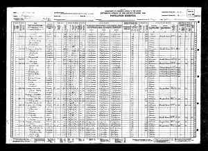 Wardie Cox Sr. 1930 Census