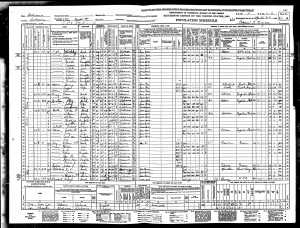 Wardie Cox Sr. 1940 Census