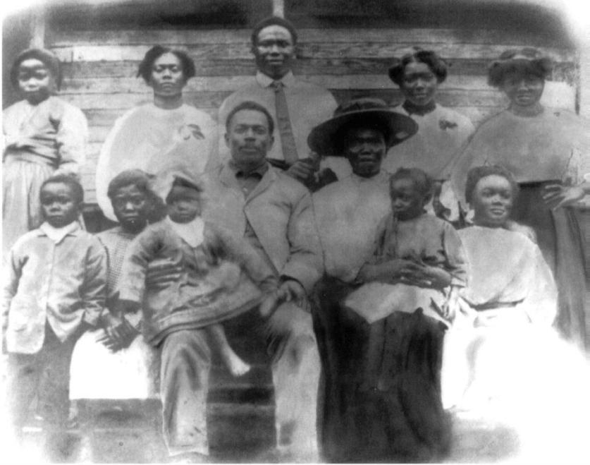 Davis Burgess and Annis Lock and children