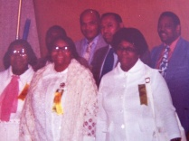 Martha Finn, Caroline Walker Ellis, Cecelia Walker, Leon Walker, Clifford Bickham, Percy Walker, and Jerry Williams