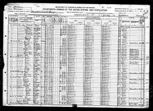Lonnie Wesley 1920 Census