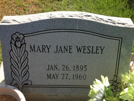 Mary Jane Burgess Wesley