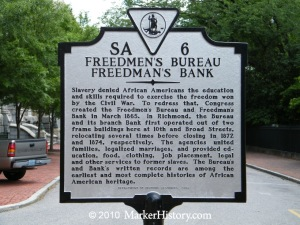 sa-6 freedmens bureau, freedmans bank