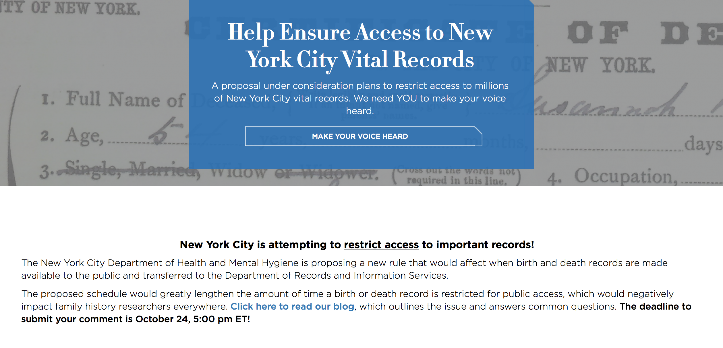 Help Save Access To New York City Vital Records My Roots My Blog